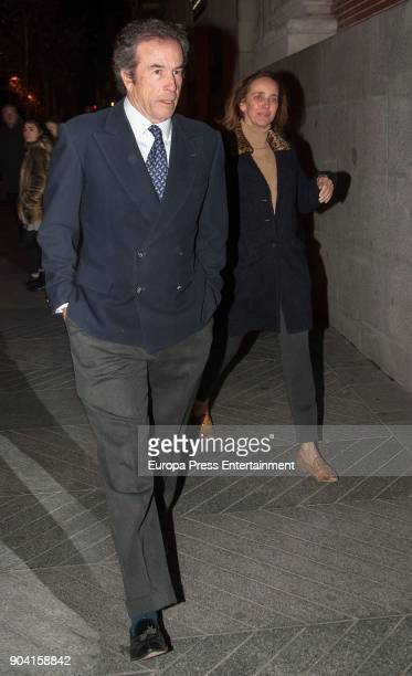 Blanca Suelves and Ioannes Osorio attends the funeral mass for Carmen Franco daughter of the dictator Francisco Franco at the Francisco de Borja...