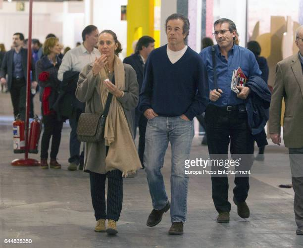 Blanca Suelves and Joannes Osorio attend the International Contemporary Art Fair ARCO 2017 at Ifema on February 23 2017 in Madrid Spain