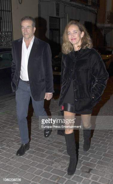 Blanca Suelves and Johannes Osorio attend Eugenia Martinez de Irujo's 50th birthday party on November 30 2018 in Madrid Spain