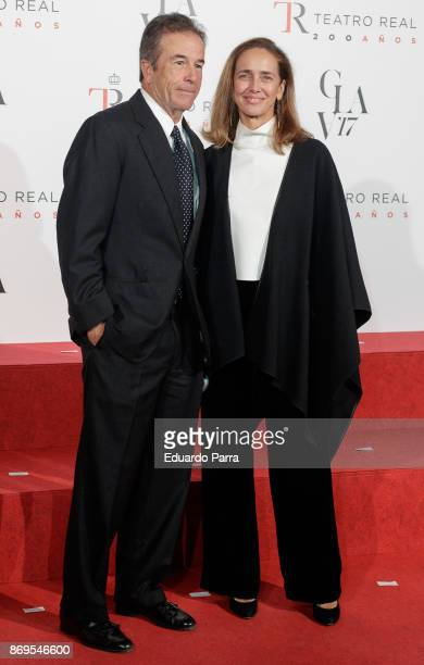 Blanca Suelves and Johannes Osorio attend the '20th anniversary gala' photocall at Royal Theatre on November 2 2017 in Madrid Spain