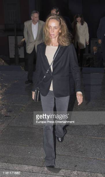 Blanca Suelves attends German Lopez Madrid's mass funeral on October 14 2019 in Madrid Spain