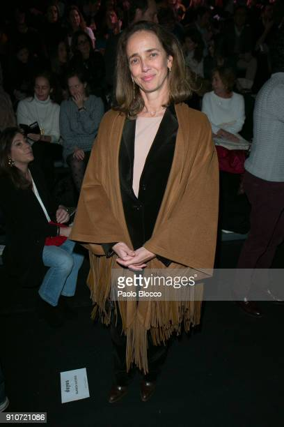 Blanca Suelves attends the front row of Duyos show during Mercedes Benz Fashion Week Madrid Autumn / Winter 2018 at Ifema on January 26 2018 in...