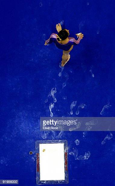 Blancas Elsa Garcia Rodriguez of Mexico walks before competing in the floor exercise during the Women's All Round Final on the fourth day of the...