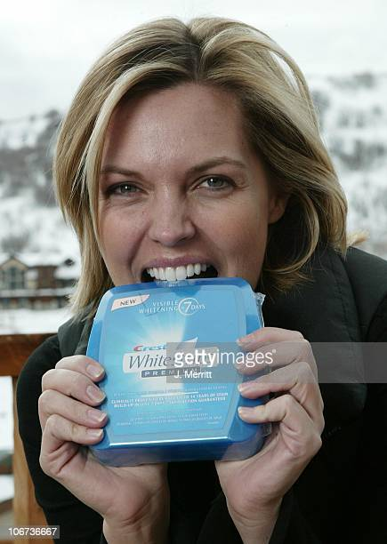 Blanchard Ryan and Crest White Strips during 2004 Sundance Film Festival Hot House Day 5 at Deer Valley Private Residence in Deer Valley Utah United...
