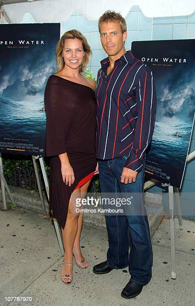 Blanchard Ryan and Daniel Travis during Open Water Special Screening Hosted by Lions Gate Films Inside Arrivals at Clearview Chelsea West in New York...