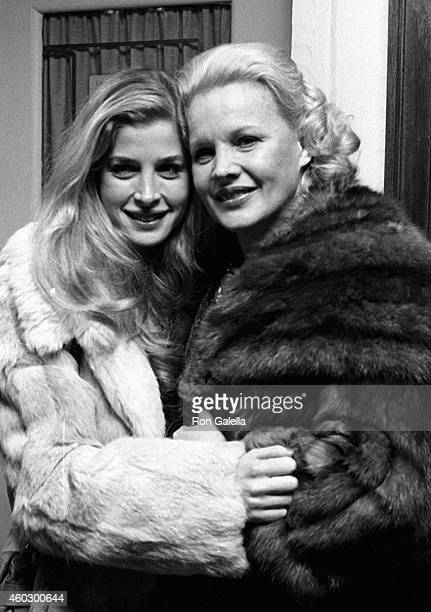 Blanche Baker and Carroll Baker attend the party for Alfred de Liagre on November 23 1981 at La Camilla Restaurant in New York City