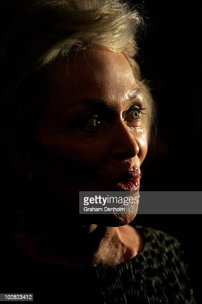 Blanche d'Alpuget author and wife of former Australian Prime Minister Bob Hawke looks on during the launch of d'Alpuget's biography Hawke The Prime...
