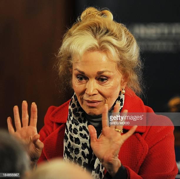 Blanche D'Alpuget wife of former Australian prime minister Bob Hawke arrives to listen to Prime Minister Julia Gillard release the Australian...