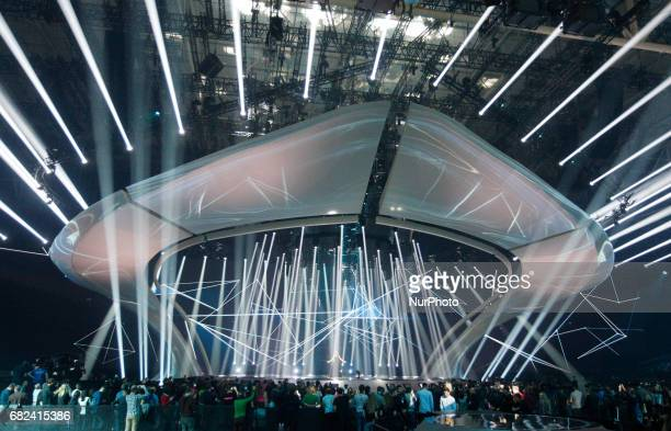Blanche from Belgium performs with the song quotCity Lightsquotduring the rehearsal for the Grand Final of the Eurovision Song Contest in Kiev...