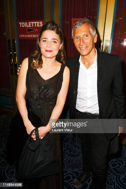 Blanche Gardin and Nagui attend 31 eme Nuit des Molieres at Theatre de Folies Bergeres on May 13 2019 in Paris France