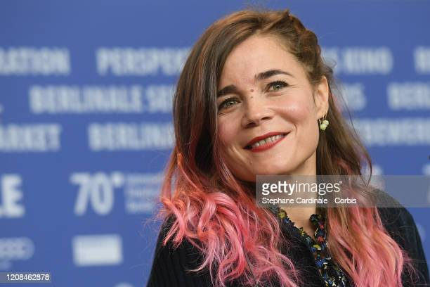 Blanche Gardin attends the Delete History press conference during the 70th Berlinale International Film Festival Berlin at Grand Hyatt Hotel on...