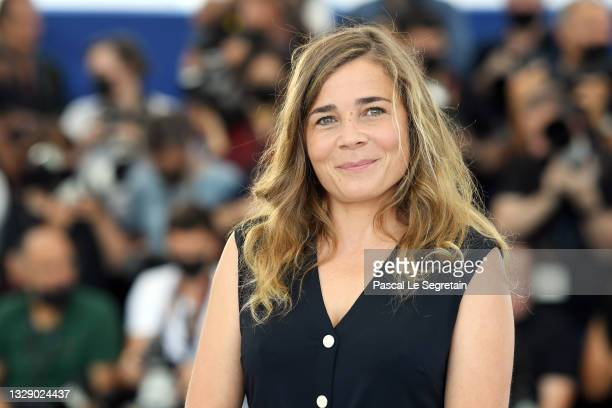 """Blanche Gardin attends the """"France"""" photocall during the 74th annual Cannes Film Festival on July 16, 2021 in Cannes, France."""