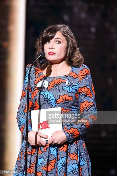 Blanche Gardin during the ceremony of the Cesar Film Awards 2018 at Salle Pleyel on March 2 2018 in Paris France