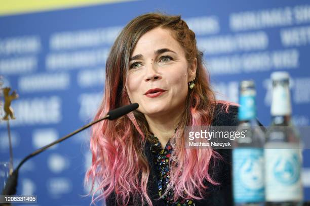 Blanche Gardin is seen at the Delete History press conference during the 70th Berlinale International Film Festival Berlin at Grand Hyatt Hotel on...