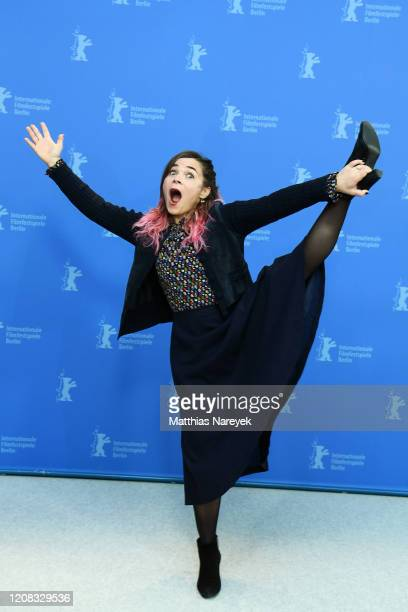Blanche Gardin poses at the Delete History photo call during the 70th Berlinale International Film Festival Berlin at Grand Hyatt Hotel on February...