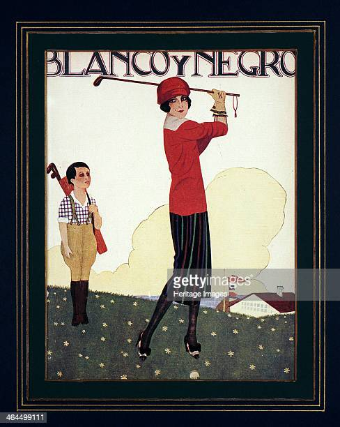 Blanco Y Negro poster with golfing theme, c1930s.