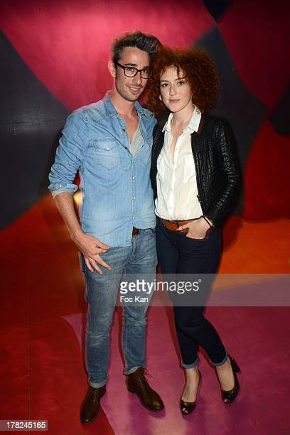 Blandine Bellavoir and guest attend the 'Rentree France Televisions' photocall at Palais de Tokyo on August 27 2013 in Paris France