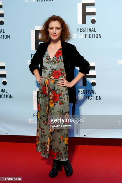 Blandine Bellavoir attends the 21th Festival of TV Fiction At La Rochelle : Day One on September 11, 2019 in La Rochelle, France.