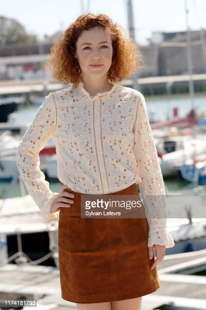Blandine Bellavoir attends the 21th Festival of TV Fiction At La Rochelle : Day Two on September 12, 2019 in La Rochelle, France.