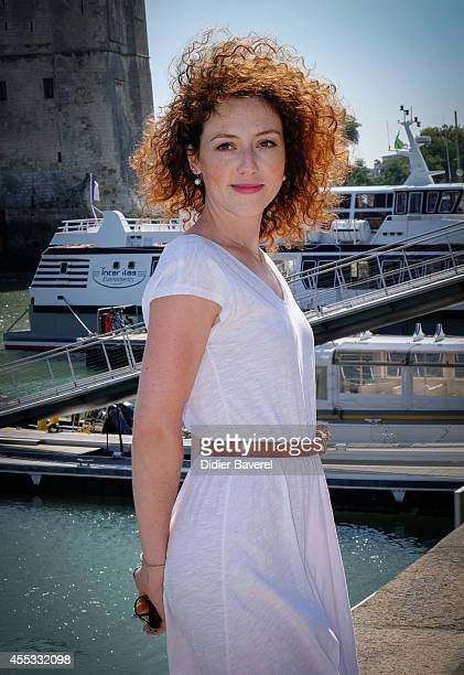 Blandine Bellavoir attends the photocall of 'Les Petits Meutres' as part of 16th Festival of TV Fiction of La Rochelle on September 12, 2014 in La...