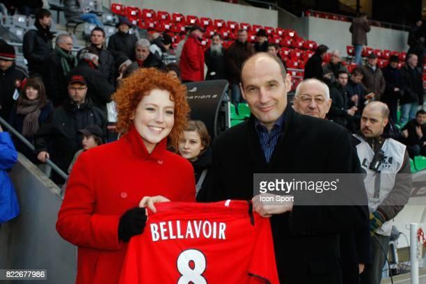 Blandine BELLAVOIRactrice de la Serie Plus Belle la Vie qui joue le role de Sonia / Pierre DREOSSI Rennes / Monaco 27eme journee de Ligue 1 Stade de...