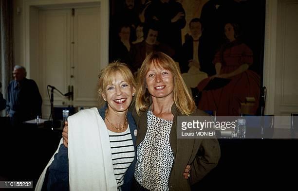 Blandine de Caunes and Catherine Enjolet in France on June 05 2000