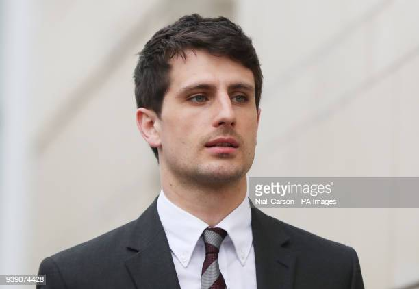 Blane McIlroy arrives at Belfast Crown Court where he is on trial accused of one count of exposure in connection with an incident in which two...