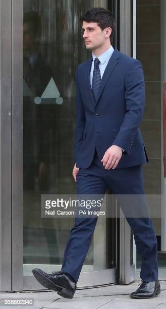 Blane McIlroy leaves Belfast Crown Court where he is on trial accused of one count of exposure in connection with an incident in which two Ireland...