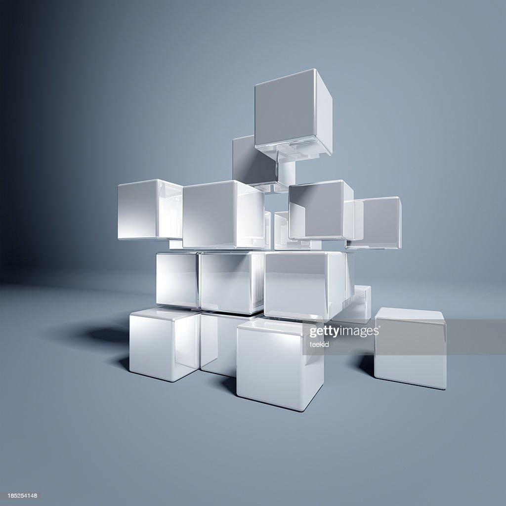 Blank 3d Cubes : Stock Photo