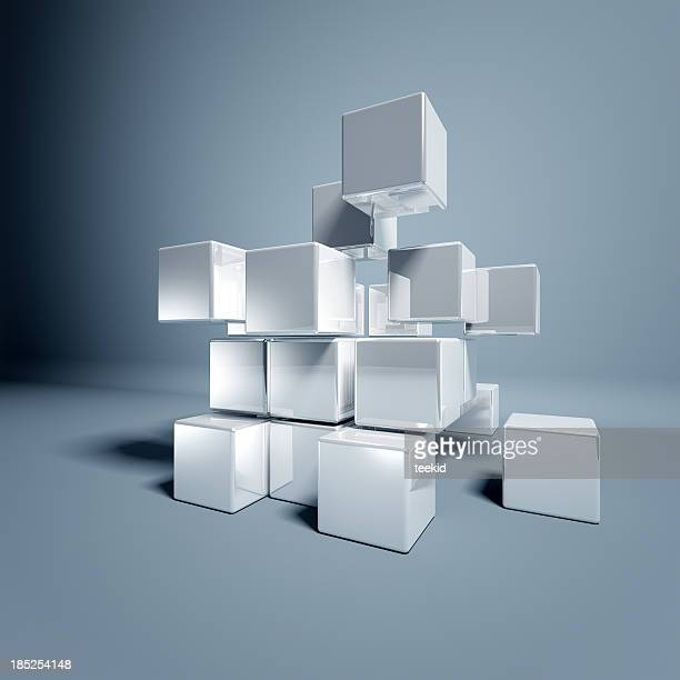blank 3d cubes - three dimensional stock pictures, royalty-free photos & images