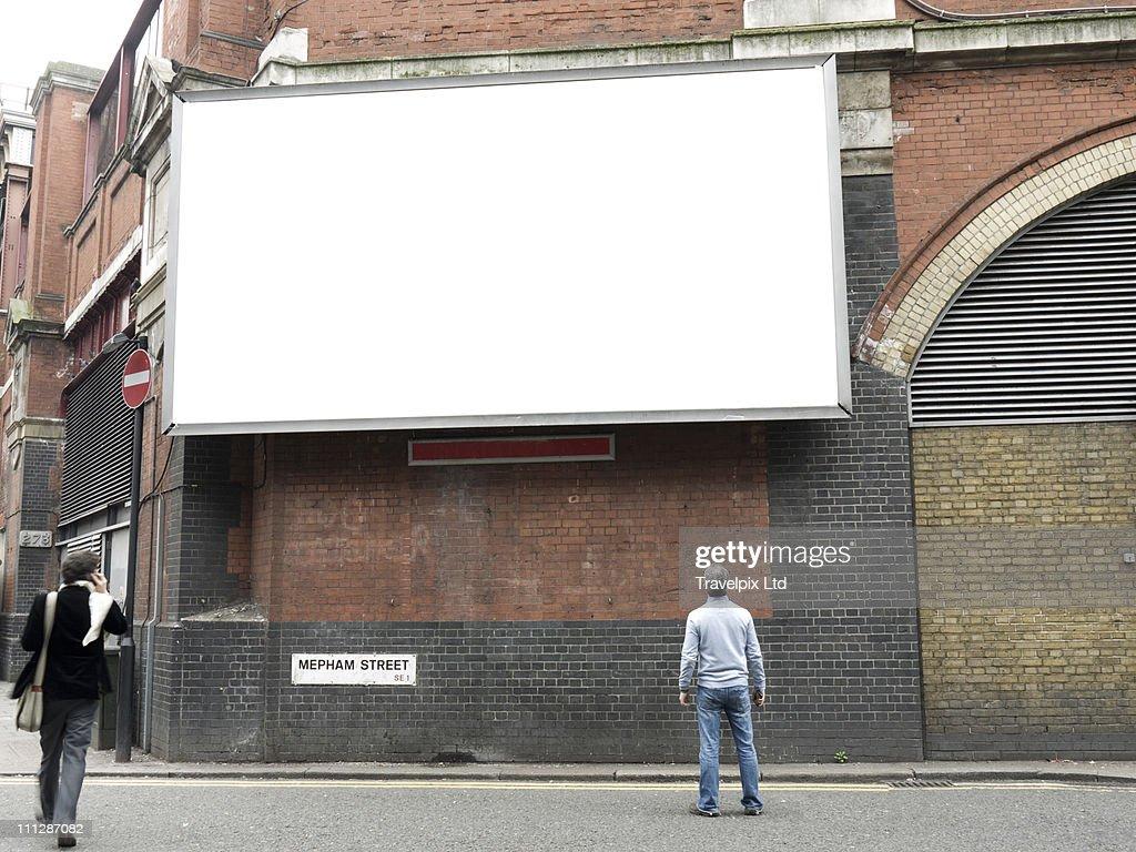 Blank Advertising Billboard, London, UK : Stockfoto