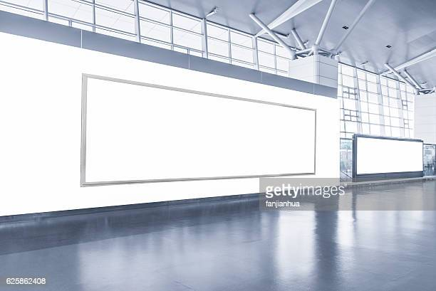 blank advertising billboard - airport stock pictures, royalty-free photos & images