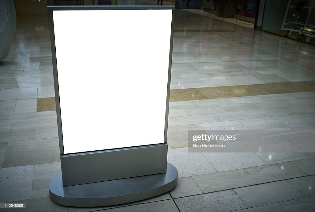 A blank Advertising sign : Bildbanksbilder