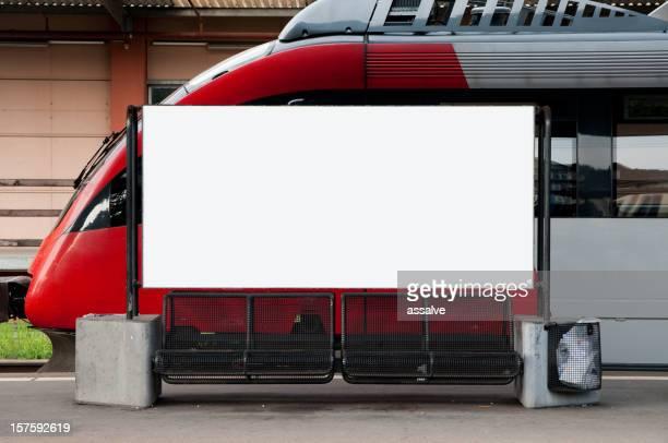 ブランク advertisment 、鉄道駅