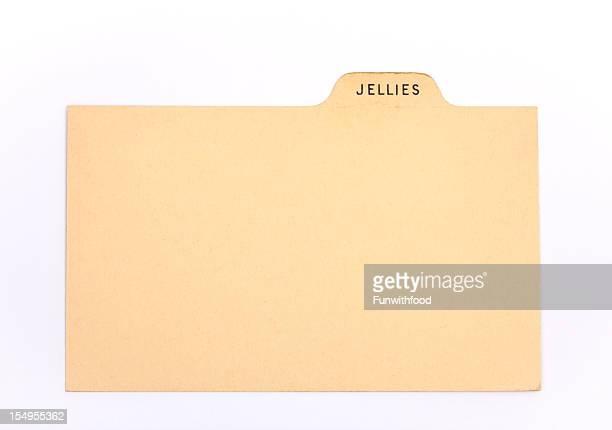 ブランクアンティークジュエリー&ジャム伝統のレシピカード背景指数 - インデックスカード ストックフォトと画像