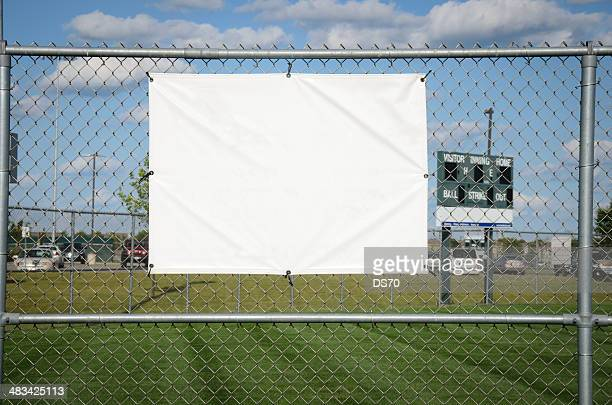 Blank banner on a baseball fence