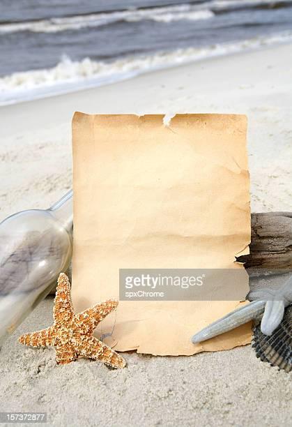 Leere Papier Strand