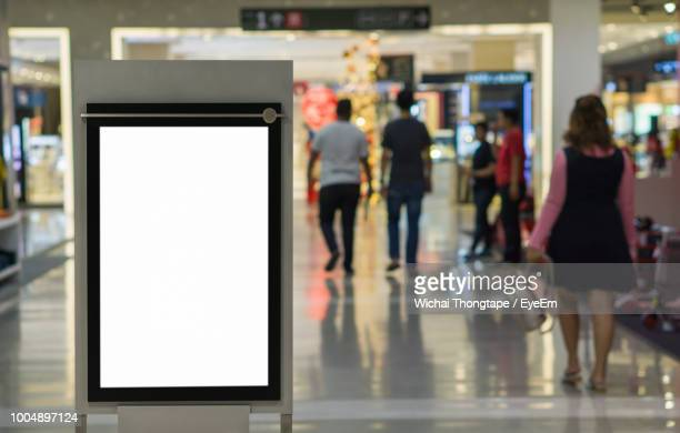 Blank Billboard At Airport