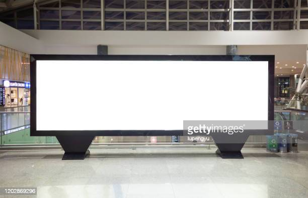 blank billboard at airport - advertisement stock pictures, royalty-free photos & images