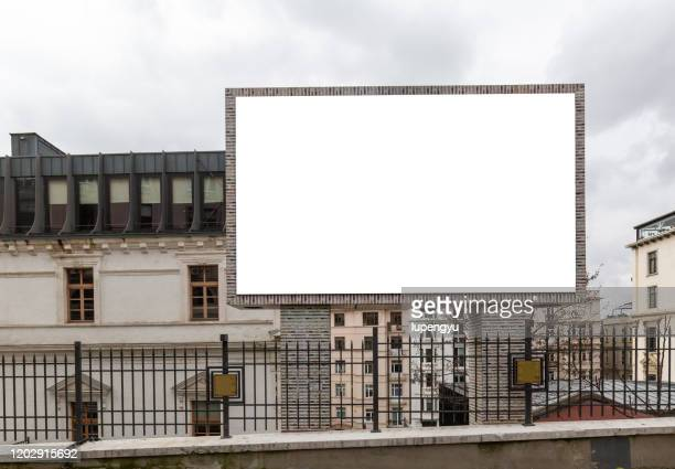 blank billboard at street,istanbul - billboard stock pictures, royalty-free photos & images