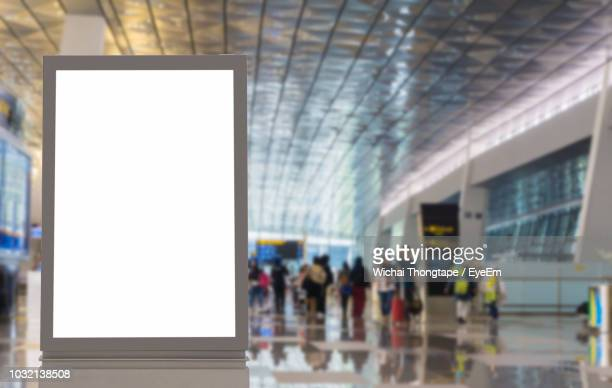 blank billboard at subway station - station stock pictures, royalty-free photos & images