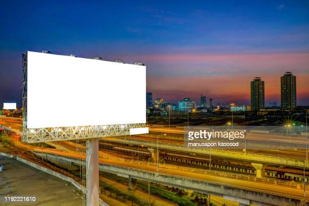 blank billboard for outdoor advertising - billboard highway stock pictures, royalty-free photos & images