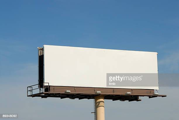 a blank billboard high in the air - major road stock pictures, royalty-free photos & images