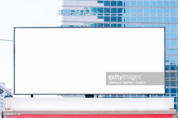 blank billboard in city - commercial sign stock pictures, royalty-free photos & images