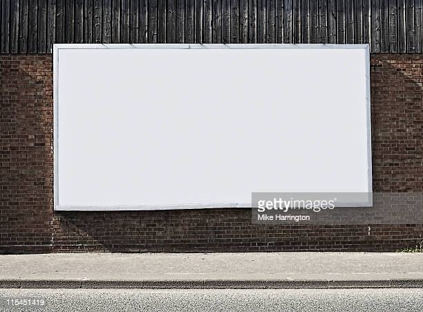 Blank Billboard On Brick Wall