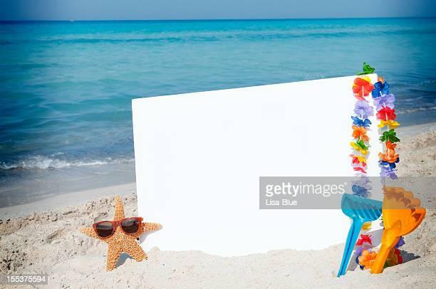 Blank Billboard on the Beach W Starfish