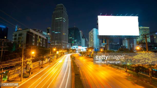 blank billboard on the highway - road sign board stock pictures, royalty-free photos & images