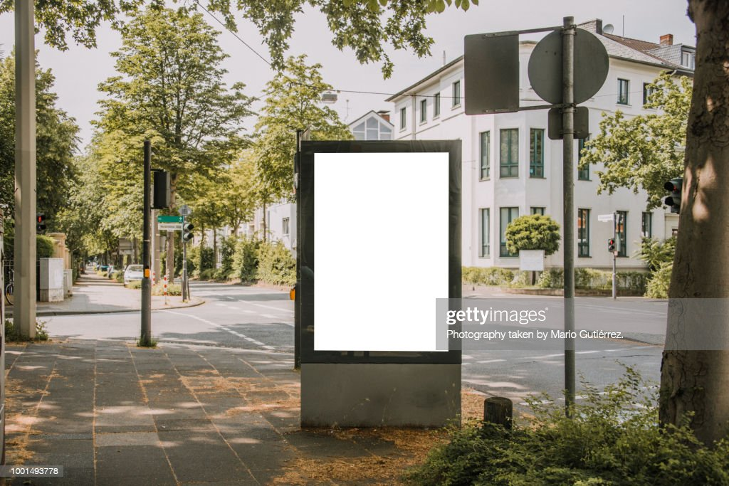 Blank billboard outdoors : Photo