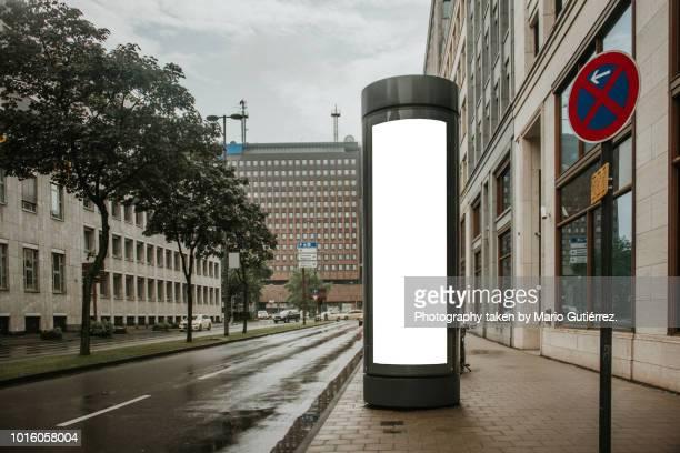 Blank billboard outdoors
