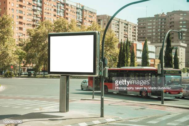 blank billboard outdoors - zakenman stock pictures, royalty-free photos & images